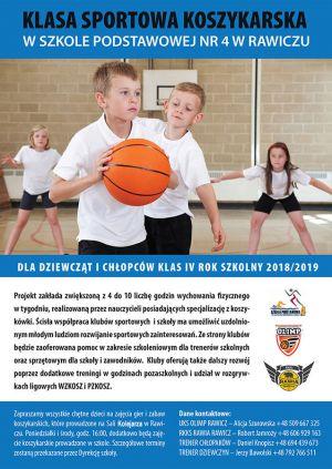 Koszykarska Klasa Sportowa w SP 4